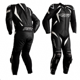 RST Tractech Evo 4 Leather Suit 1 Piece Black White